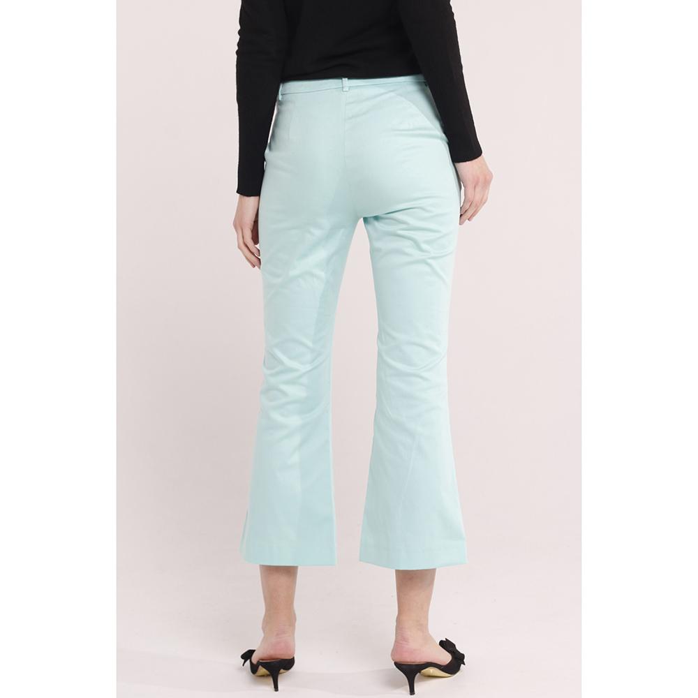 Расклешенные брюки Cavalli Class голубого цвета