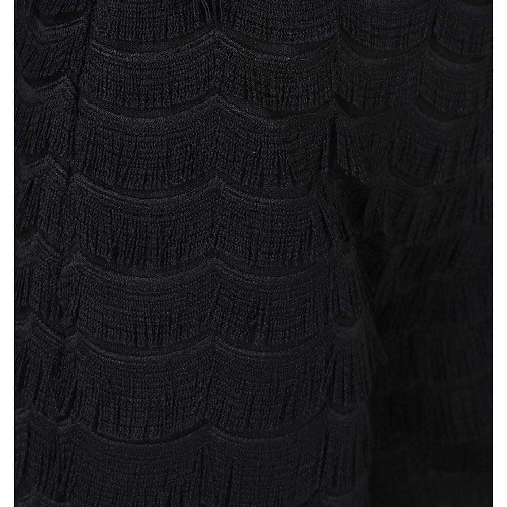 Черные кюлоты Cavalli Class с бахромой