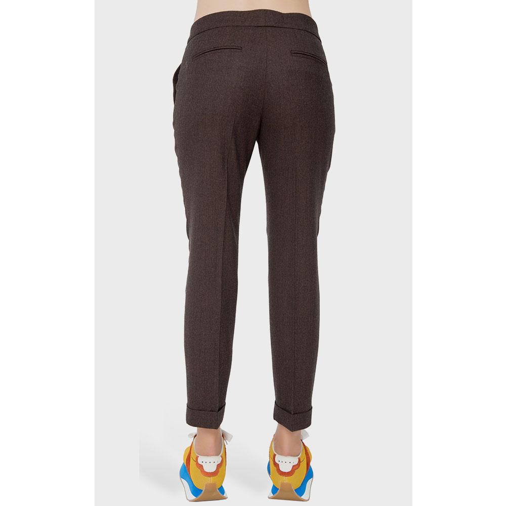 Коричневые брюки Etro со стрелками