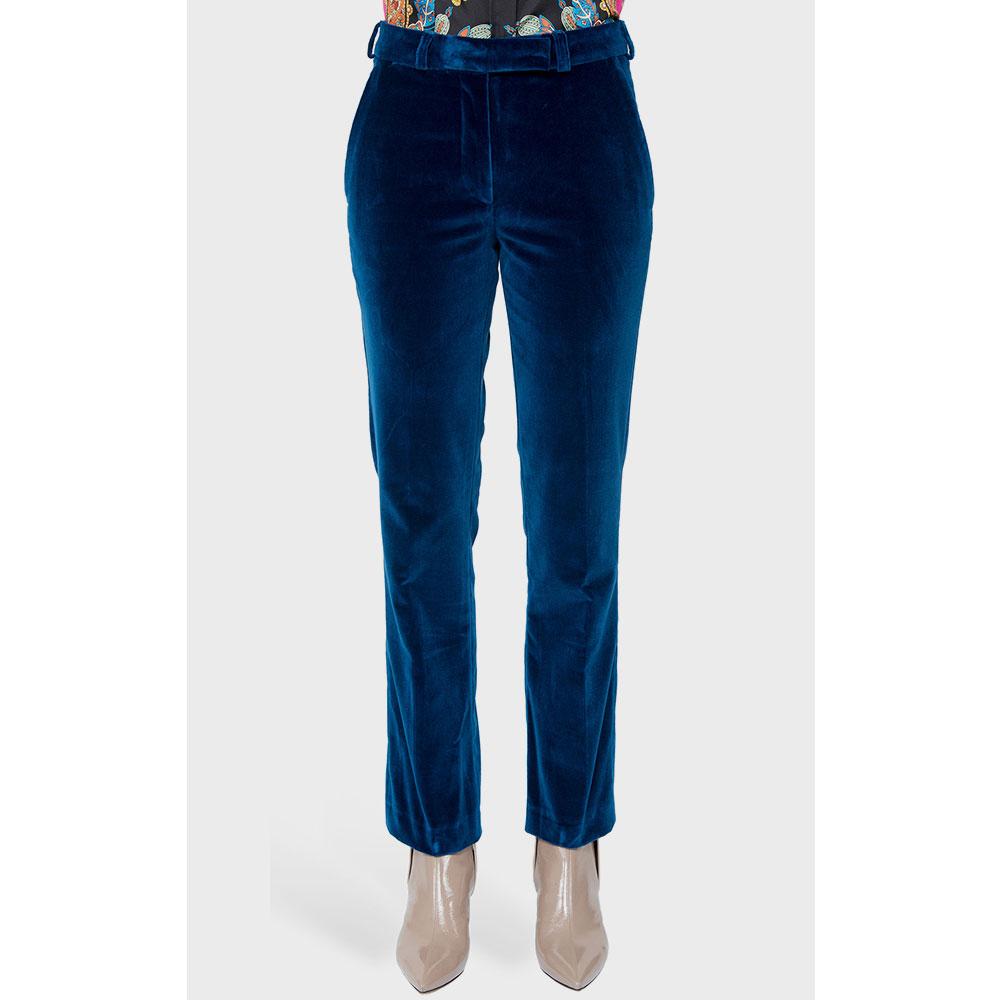Синие брюки Etro со средней посадкой