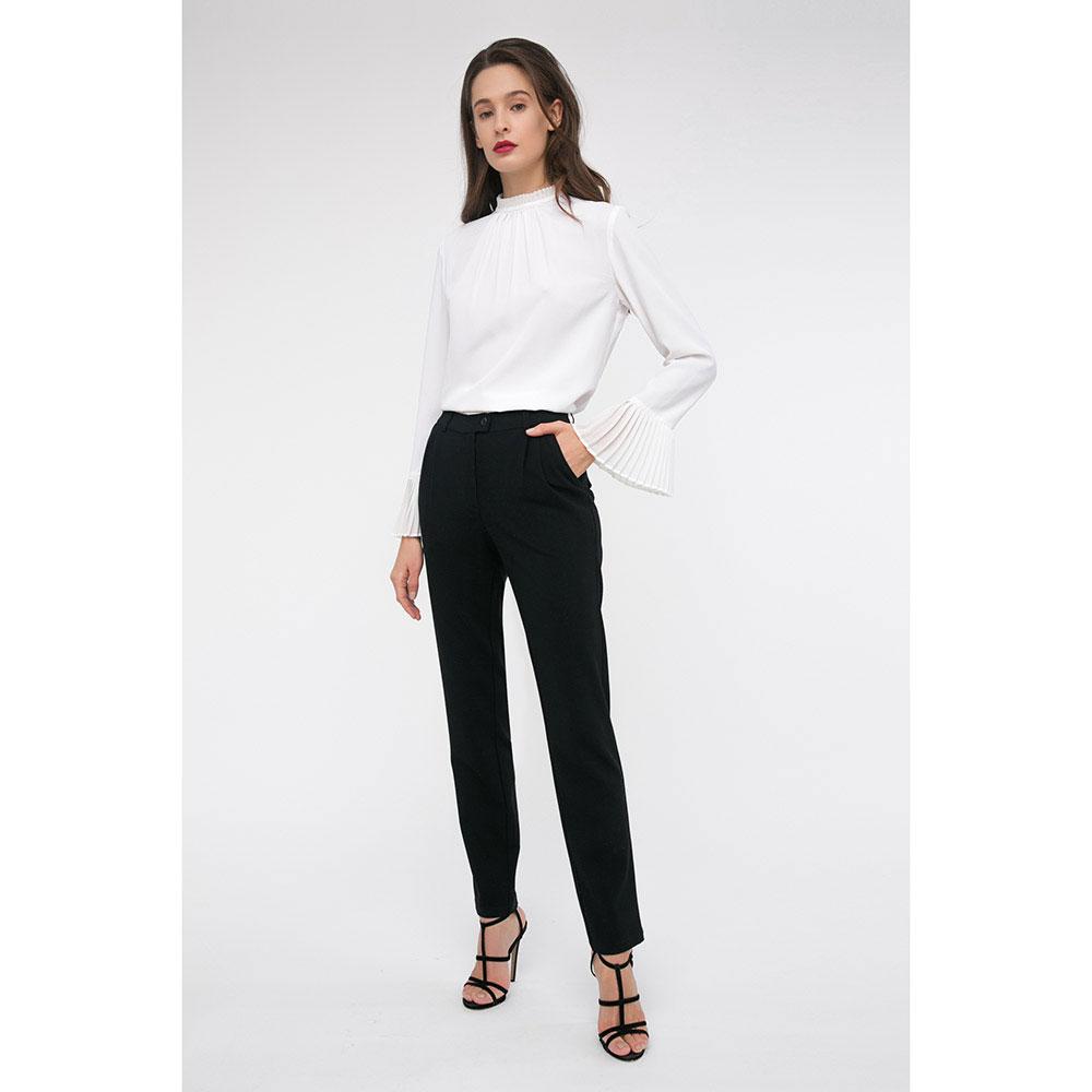 Черные зауженные брюки Shako с защипами