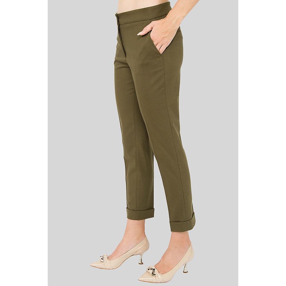 Зауженные зеленые брюки Etro со стрелками