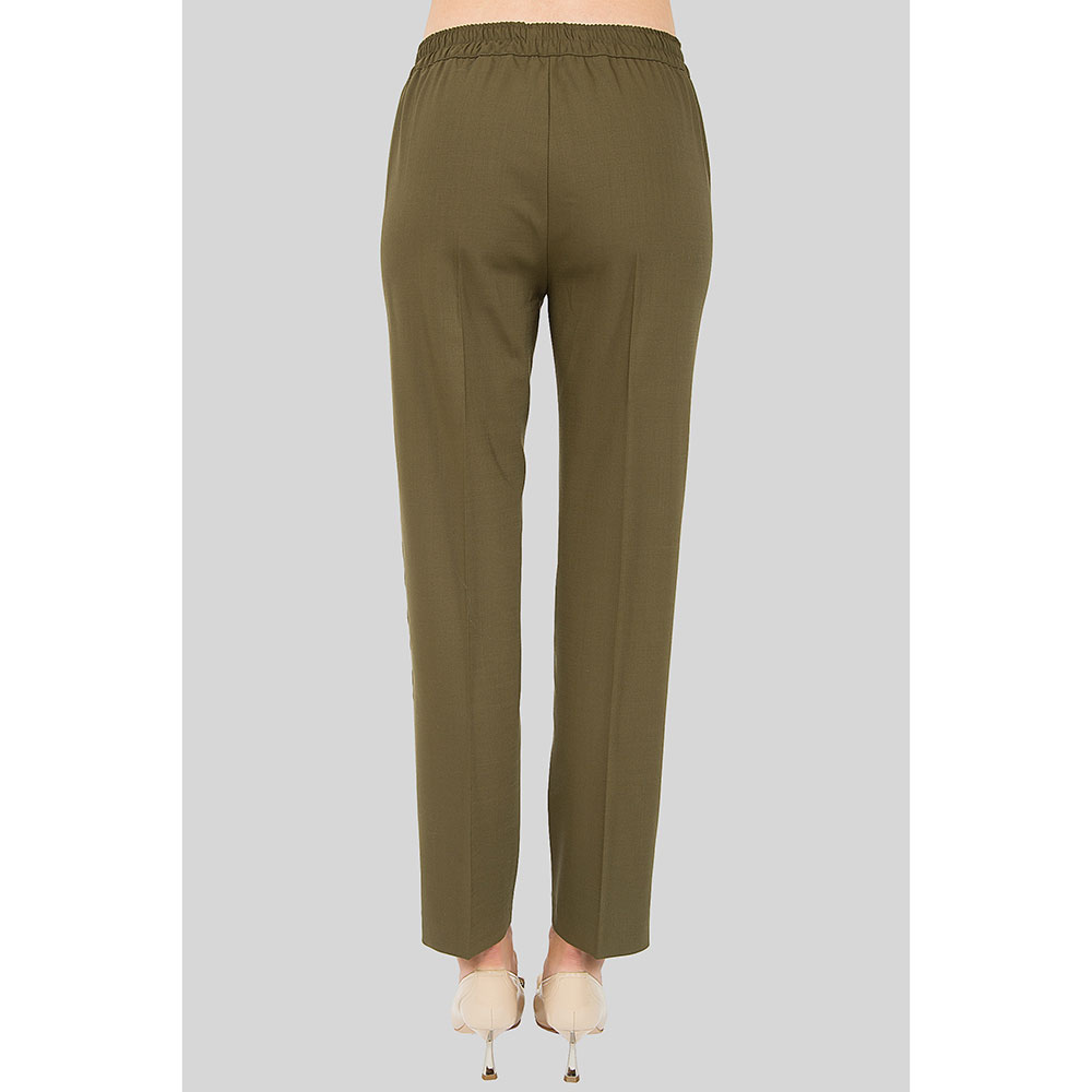 Зеленые брюки Etro с лампасами