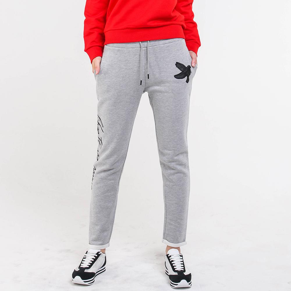 Серые спортивные брюки Quantum Courage с вышивкой