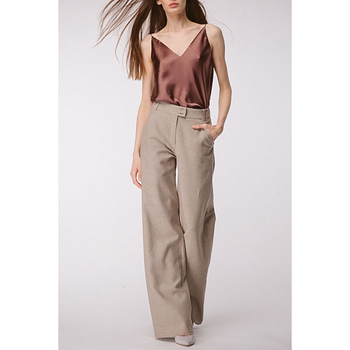 Широкие брюки Shako из льна