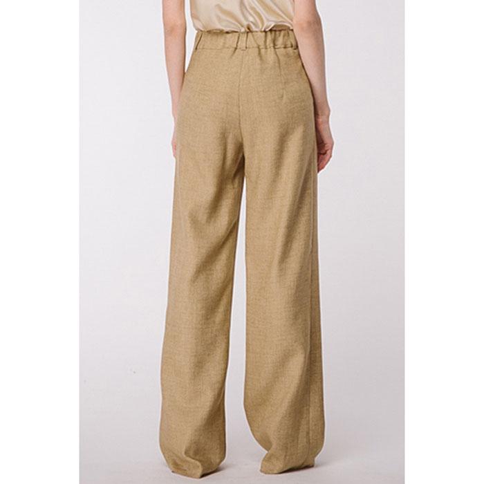 Широкие льняные брюки Shako золотистого цвета