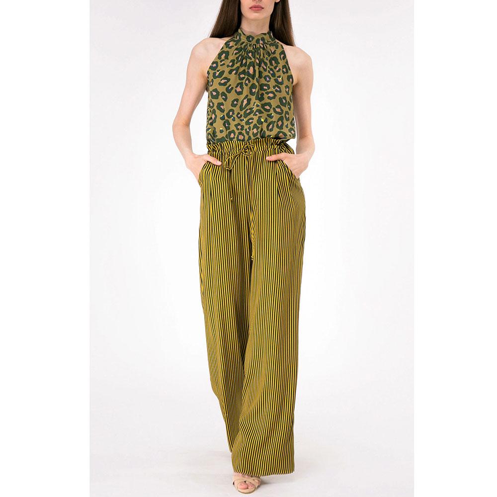 Полосатые брюки Shako с высокой талией на кулиске
