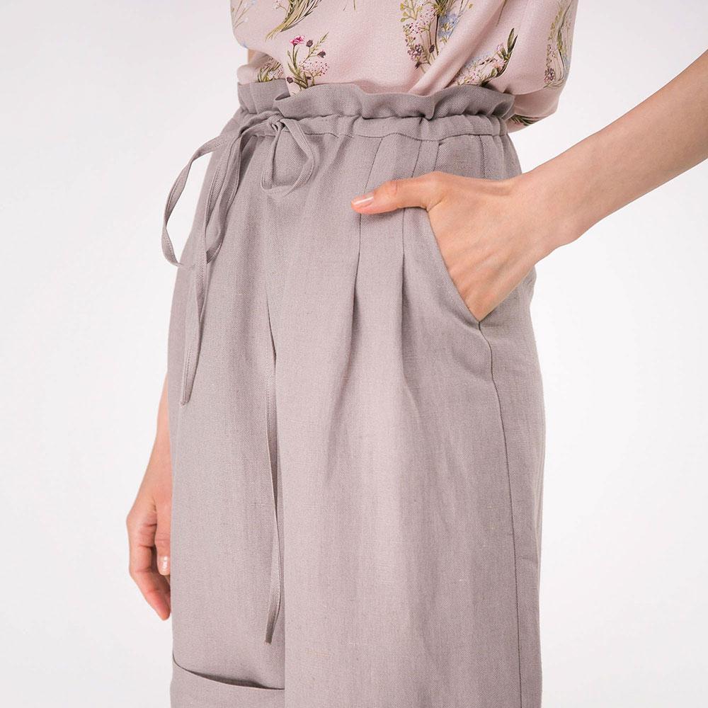 Льняные шорты Shako с высокой талией на кулиске