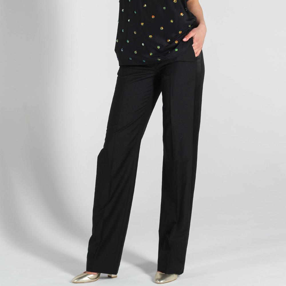 Черные прямые брюки Antonio Berardi со стрелками