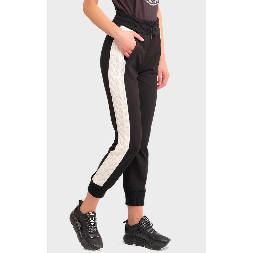 Спортивные брюки Twin-Set с вязаными лампасами