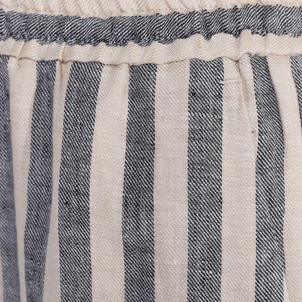 Бежевые брюки Twin-Set с серыми полосками