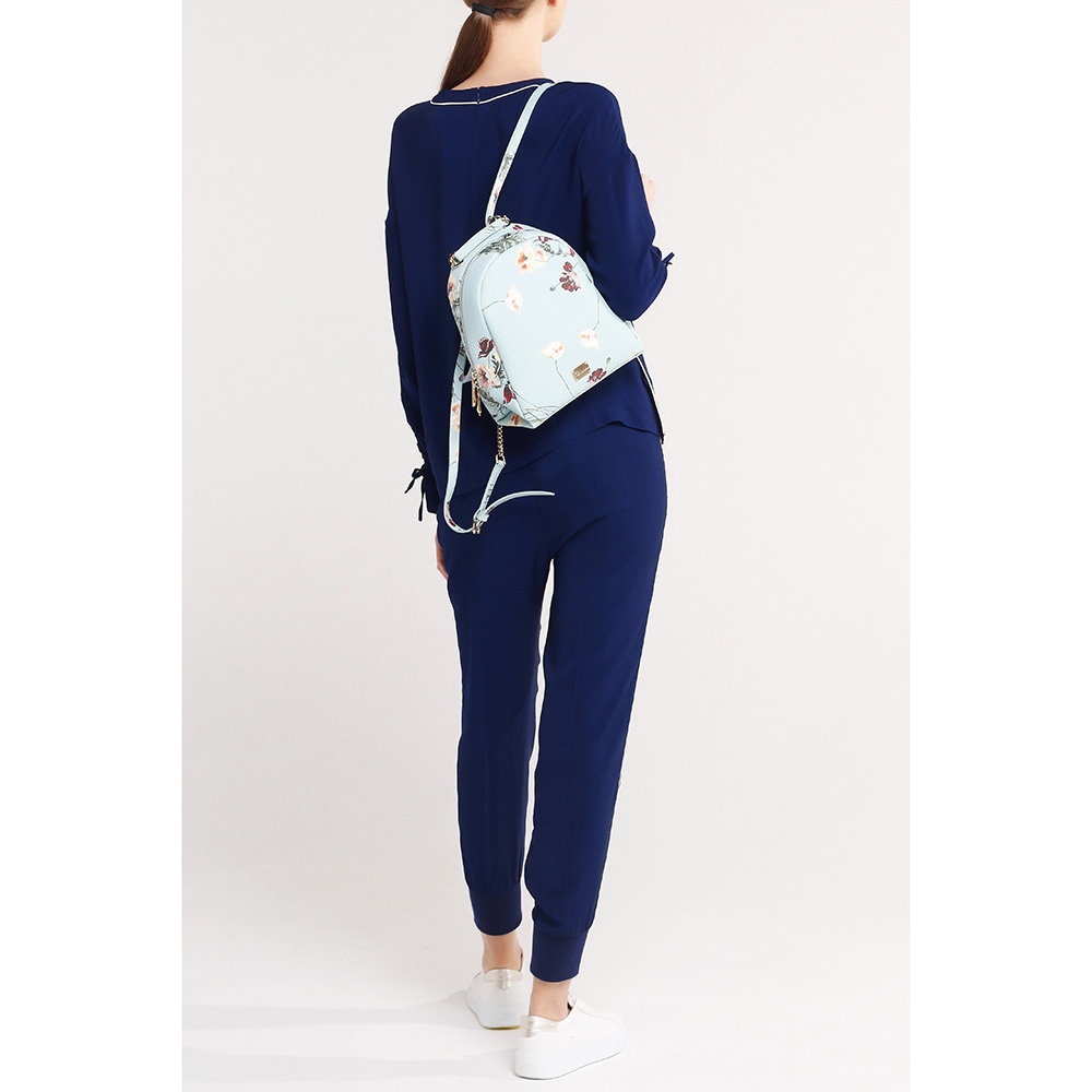 Синие брюки Twin-Set с лампасами