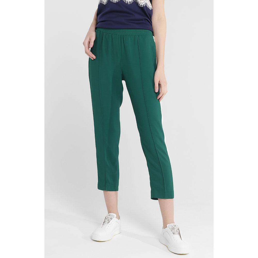 Зеленые брюки Twin-Set с лампасами