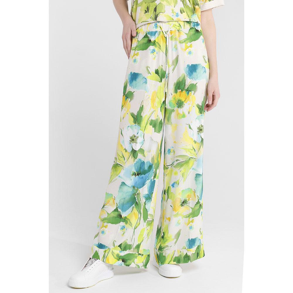 Белые брюки Twin-Set с растительным принтом
