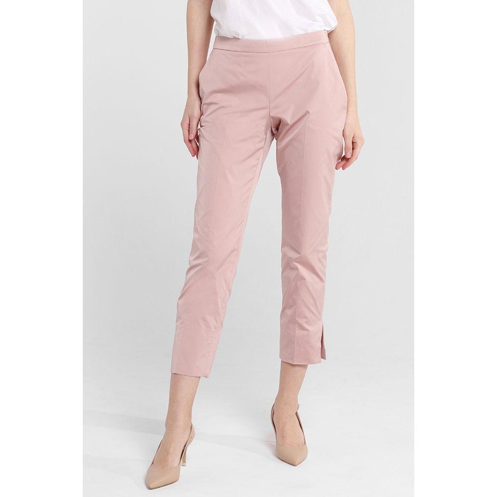 Розовые брюки Twin-Set с разрезами