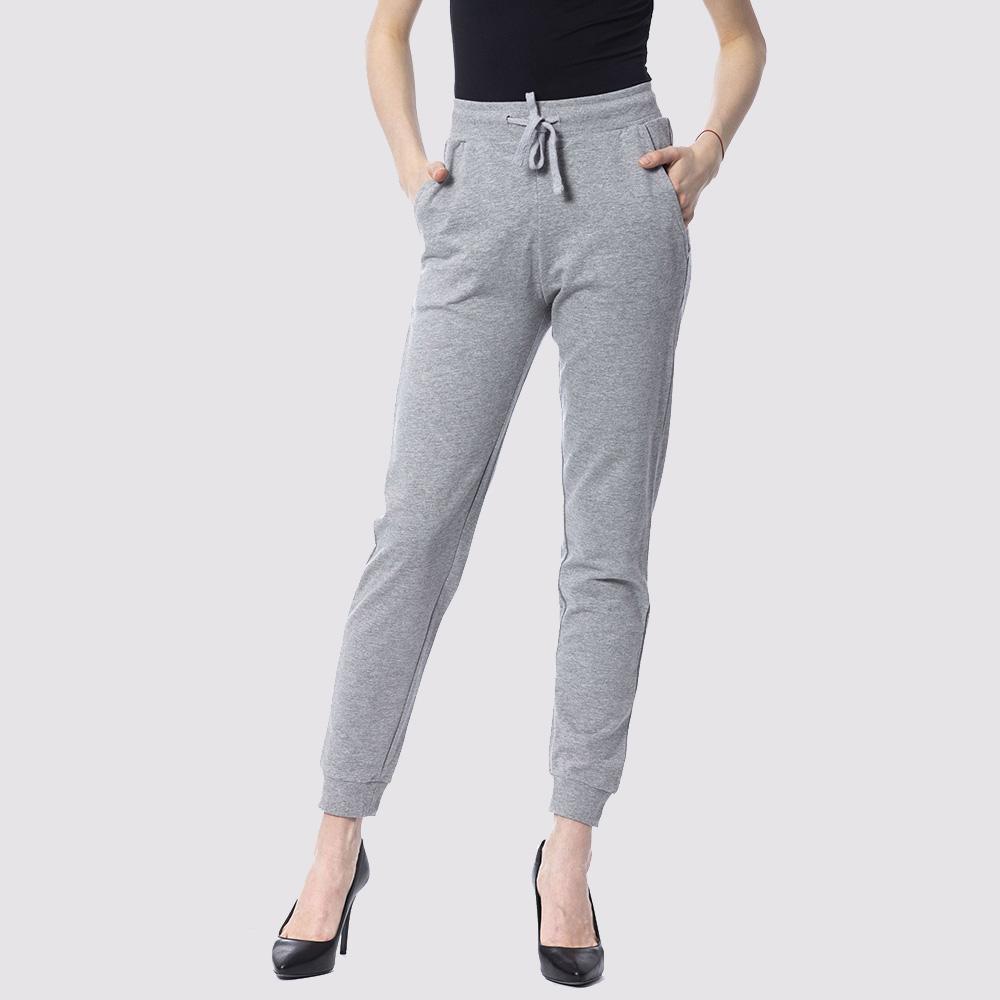 Спортивные брюки Silvian Heach из хлопка серого цвета
