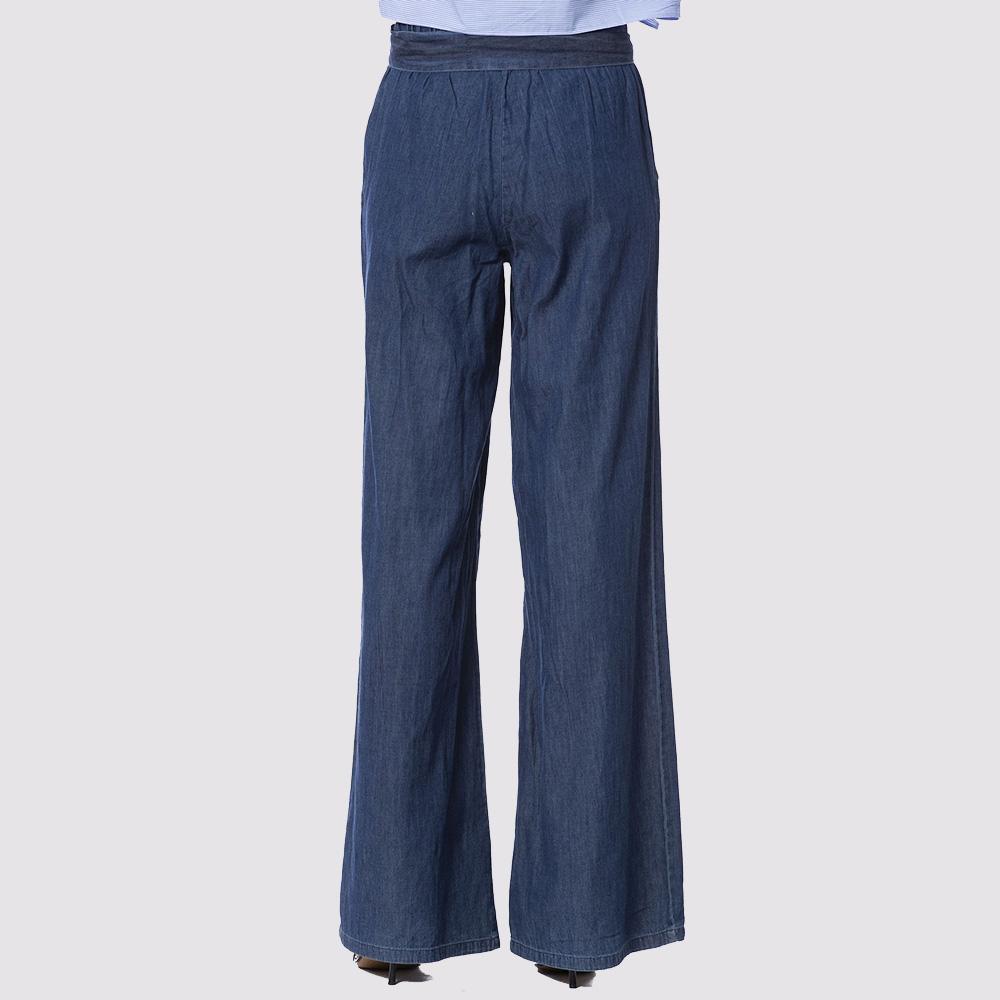 Широкие синие брюки Silvian Heach с поясом
