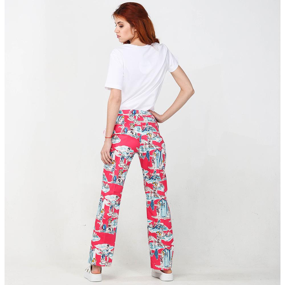Красные брюки Blugirl Blumarine с морским принтом