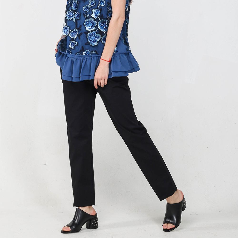 Зауженные брюки Blugirl Blumarine черного цвета