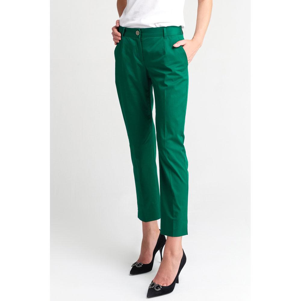 Зеленые брюки Dolce&Gabbana с карманами