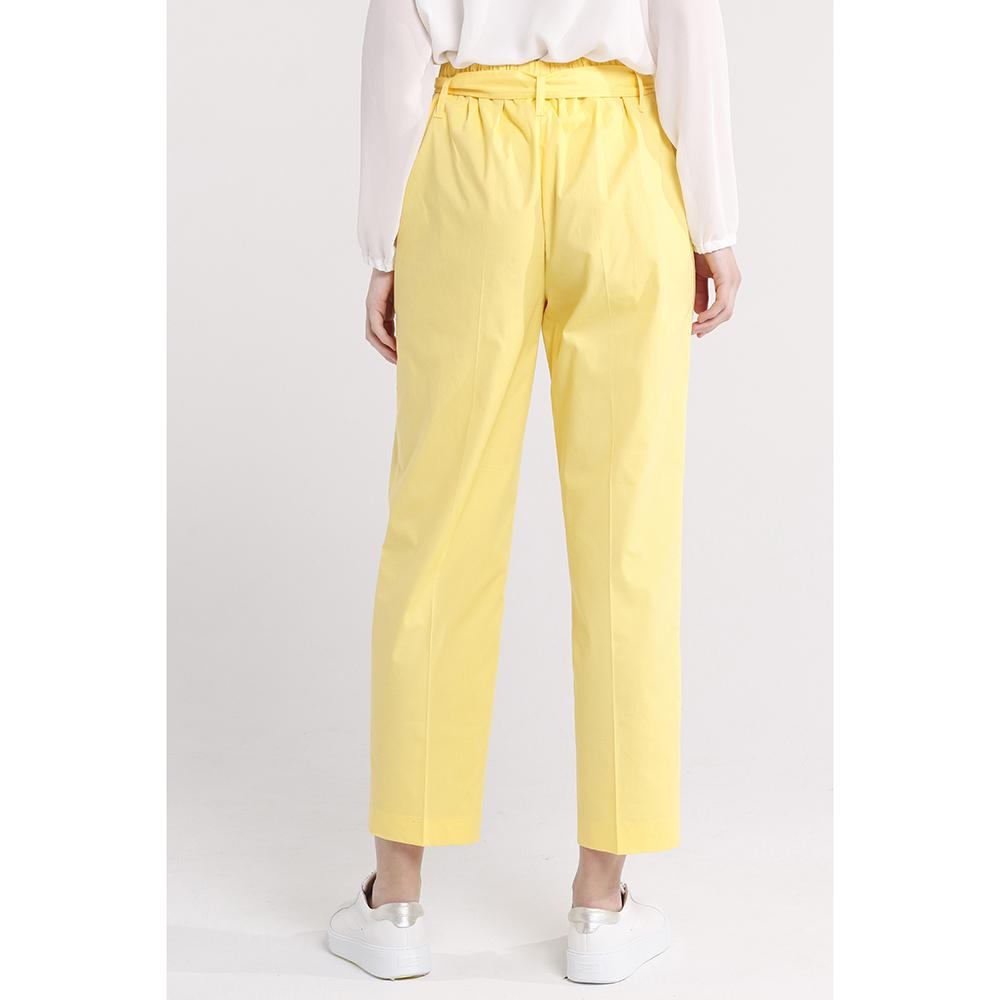 Брюки-чинос Blugirl Blumarine желтого цвета