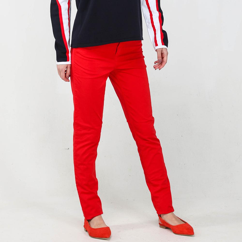 Брюки Twin-Set красного цвета