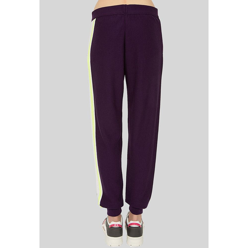 Фиолетовые брюки Iceberg с принтом