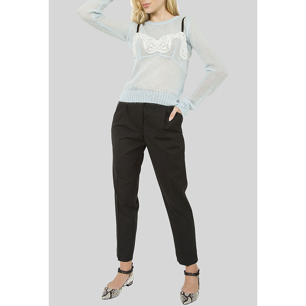 Черные брюки N21 со стрелками
