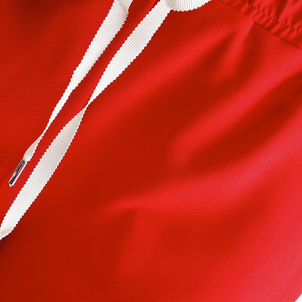 Красные зауженные брюки Ermanno Scervino с лампасами