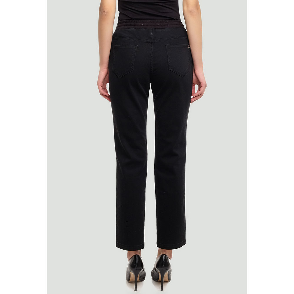 Черные брюки Ermanno Ermanno Scervino с блестками