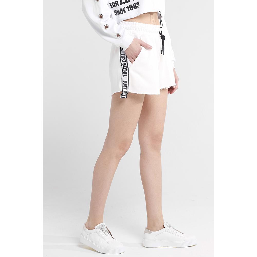 Широкие шорты J.B4 Just Before белого цвета