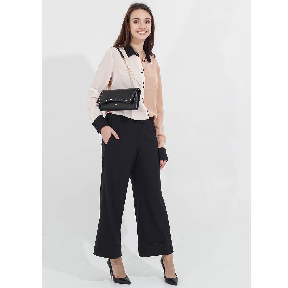 Черные укороченные брюки Twin-Set клеш от бедра