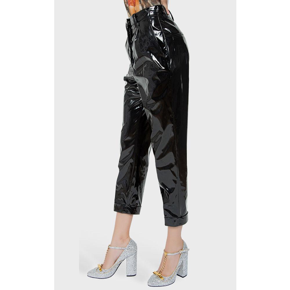 Зауженные брюки N21 черного цвета