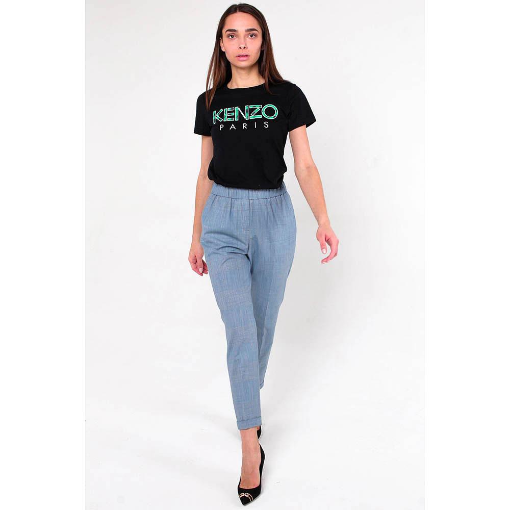 Серые брюки Peserico с отворотами