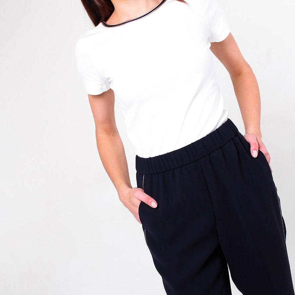 Синие брюки Peserico с тонкими лампасами