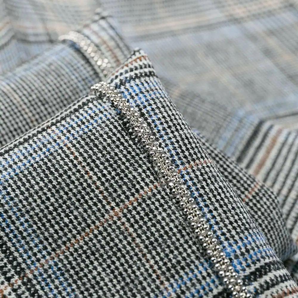 Клетчатые брюки Peserico на резинке