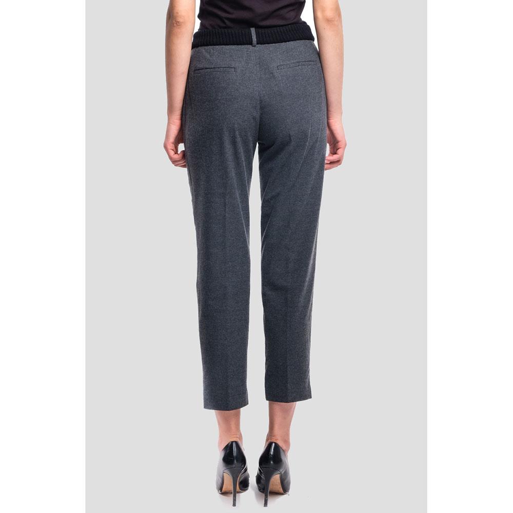 Укороченные брюки Peserico темно-серого цвета
