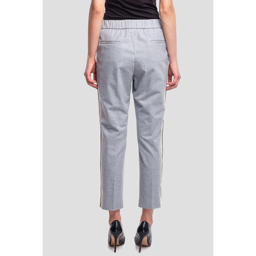 Серые брюки Peserico на завязках