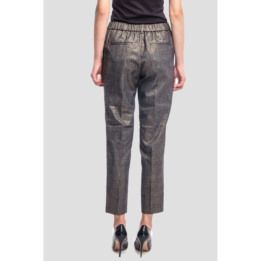Зауженные брюки Peserico бронзовые в клетку
