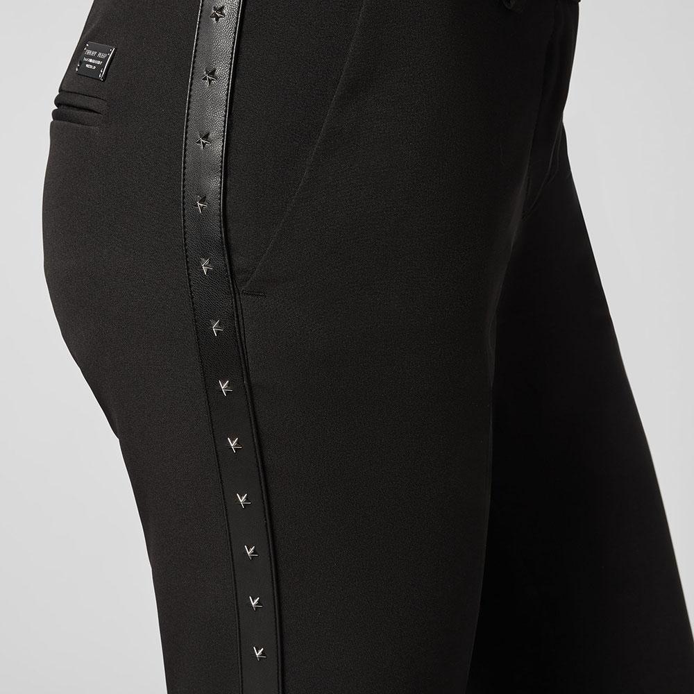 Черные брюки Philipp Plein с заклепками в форме звезд