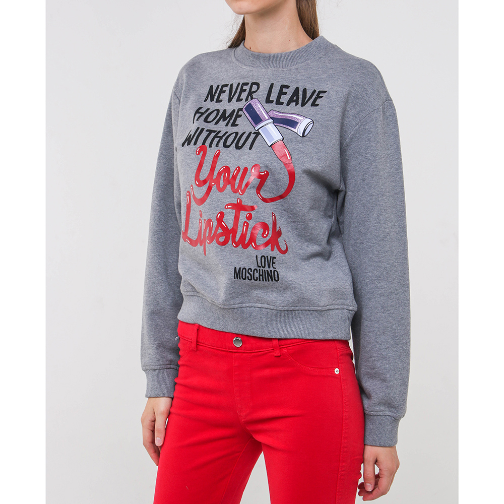 Зауженные брюки Love Moschino красного цвета