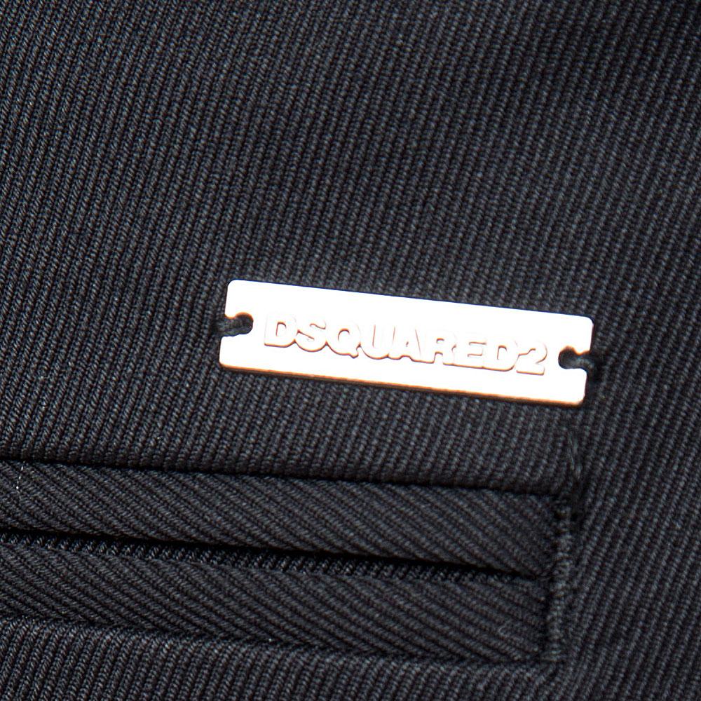 Укороченные черные брюки Dsquared2 со стрелками