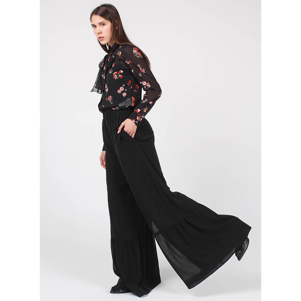 bc5bb240dbbd Юбка-брюки Red Valentino из шелка черного цвета