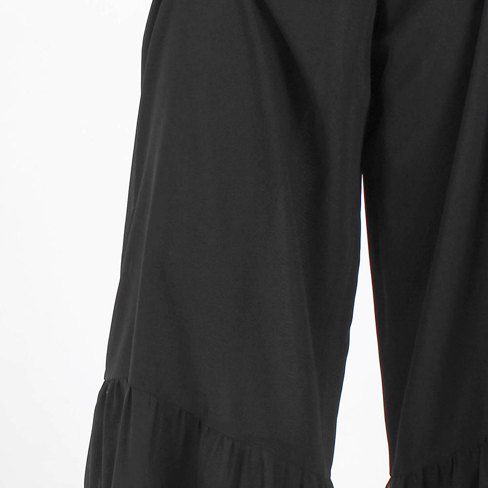 Юбка-брюки Red Valentino из шелка черного цвета