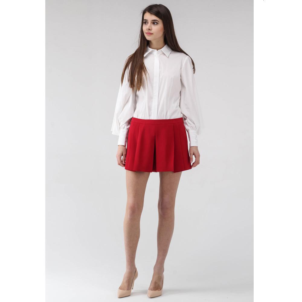 Юбка-шорты Red Valentino бордового цвета