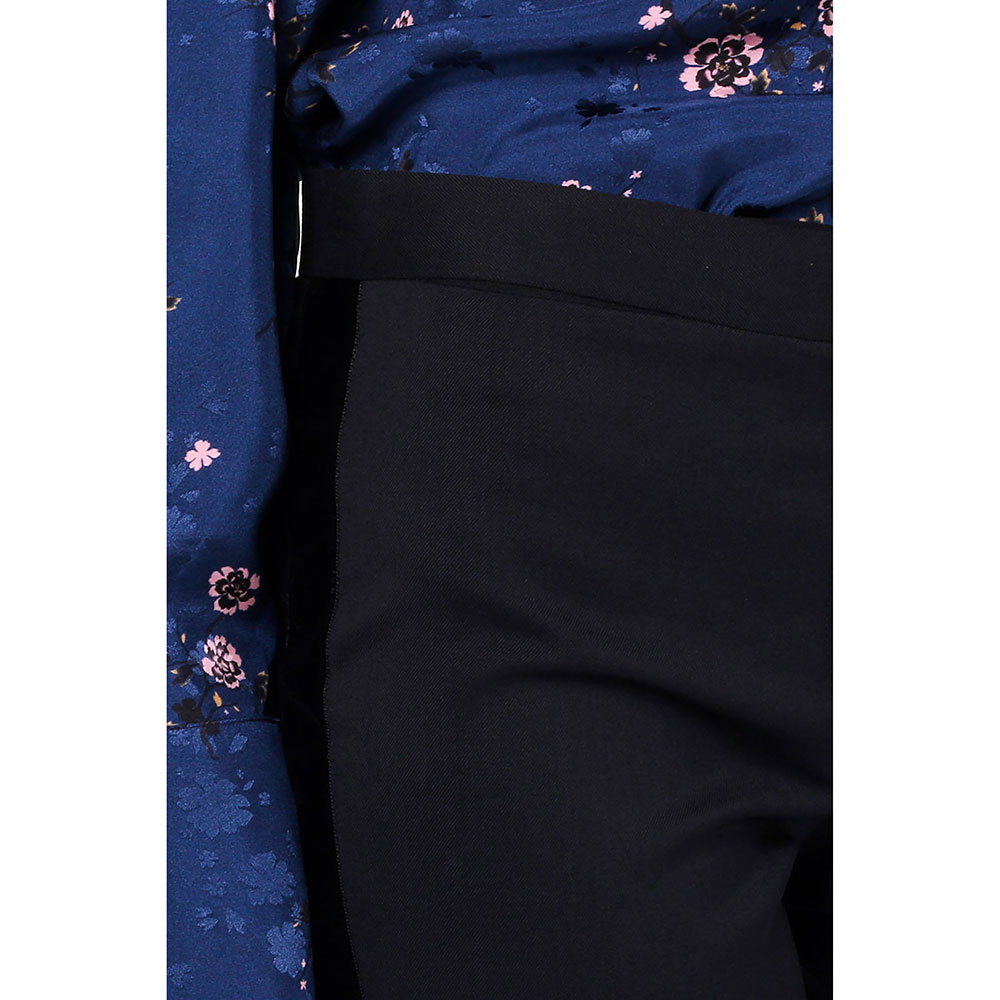 Черные шерстяные брюки Red Valentino с лампасами