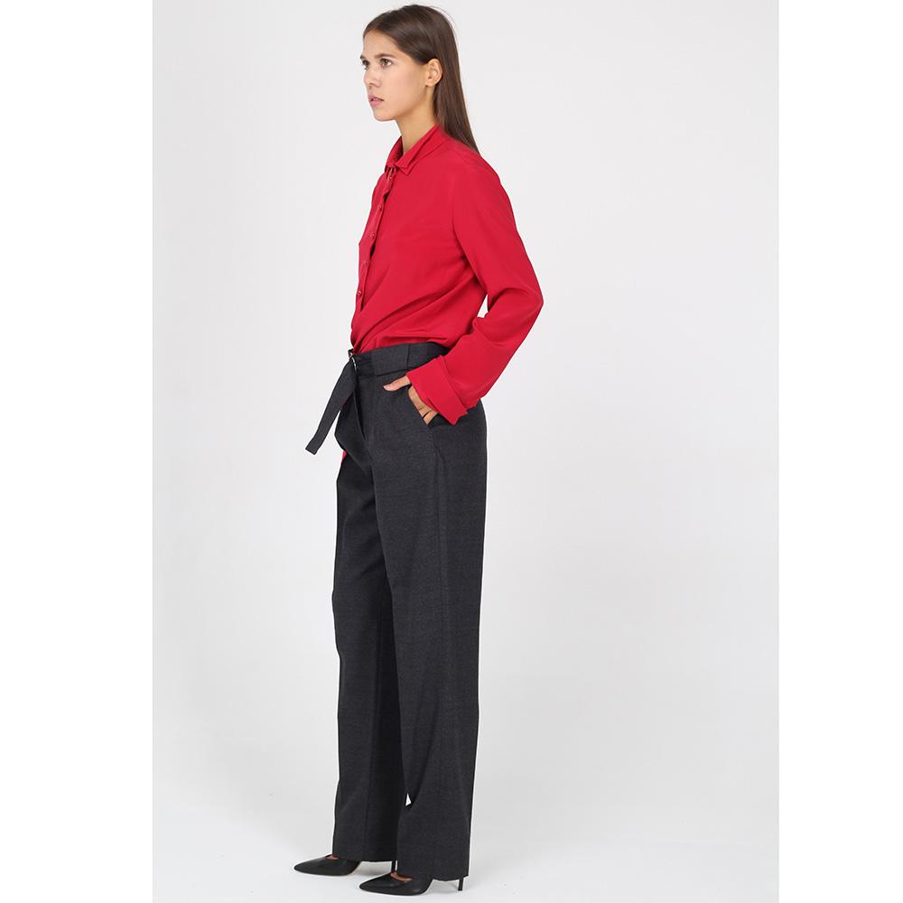 Классические брюки Emporio Armani на широком поясе с красной вставкой