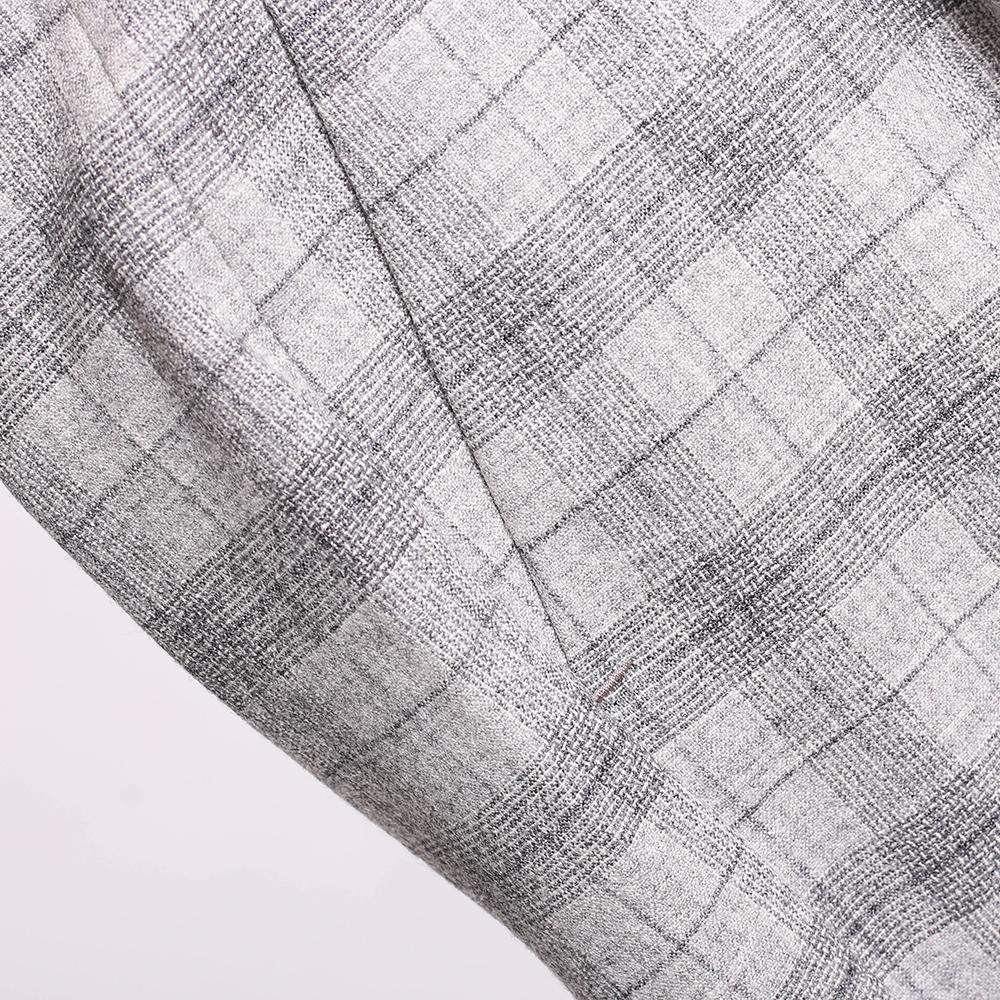 Клетчатые серые брюки Peserico по косточку