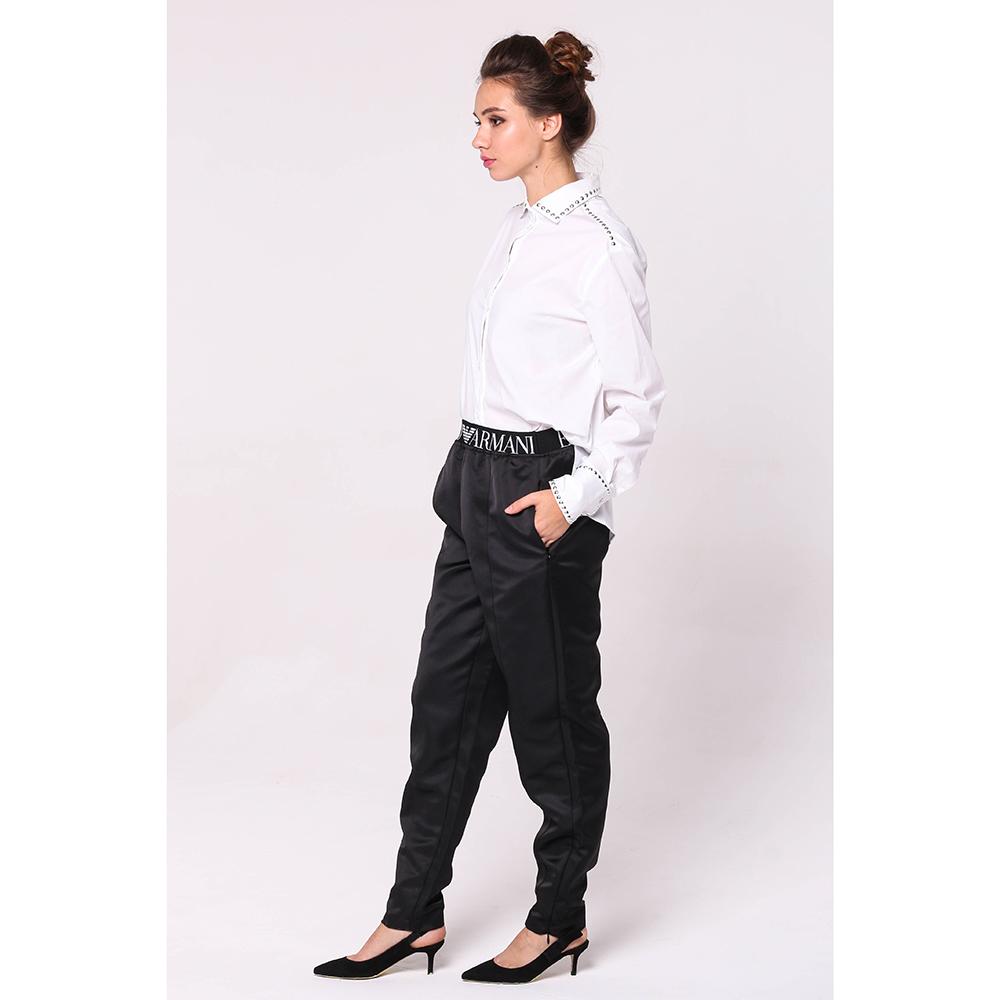 Зауженные брюки Emporio Armani черного цвета