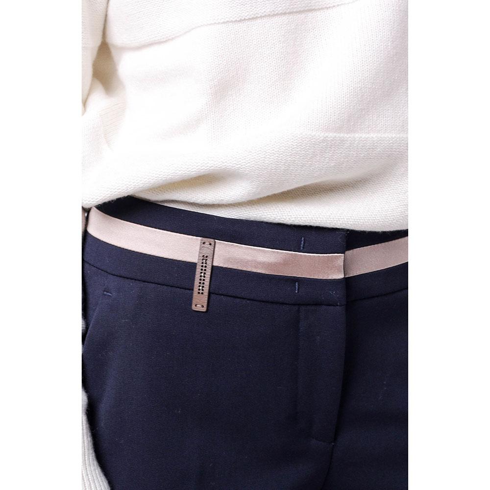 Синие зауженные брюки Peserico со стрелками
